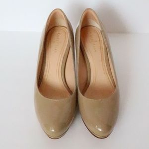 Cole Haan NikeAir tan patent leather pumps size 6C